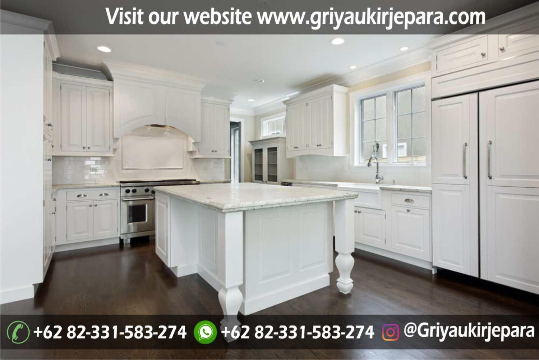 kitchen set minimalis simpel dengan cat duco warna putih