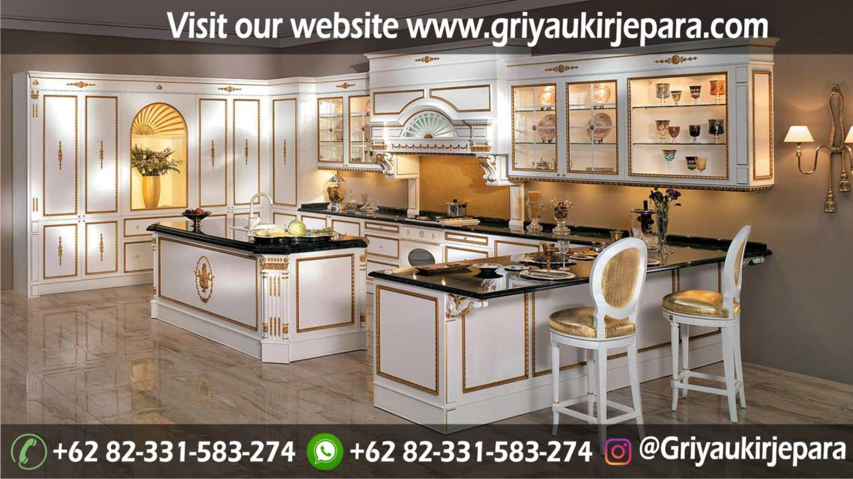 10 model kitchen set mewah high class furniture indonesia