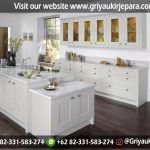 model simpel dan elegant kitchen set model eropa cat putih