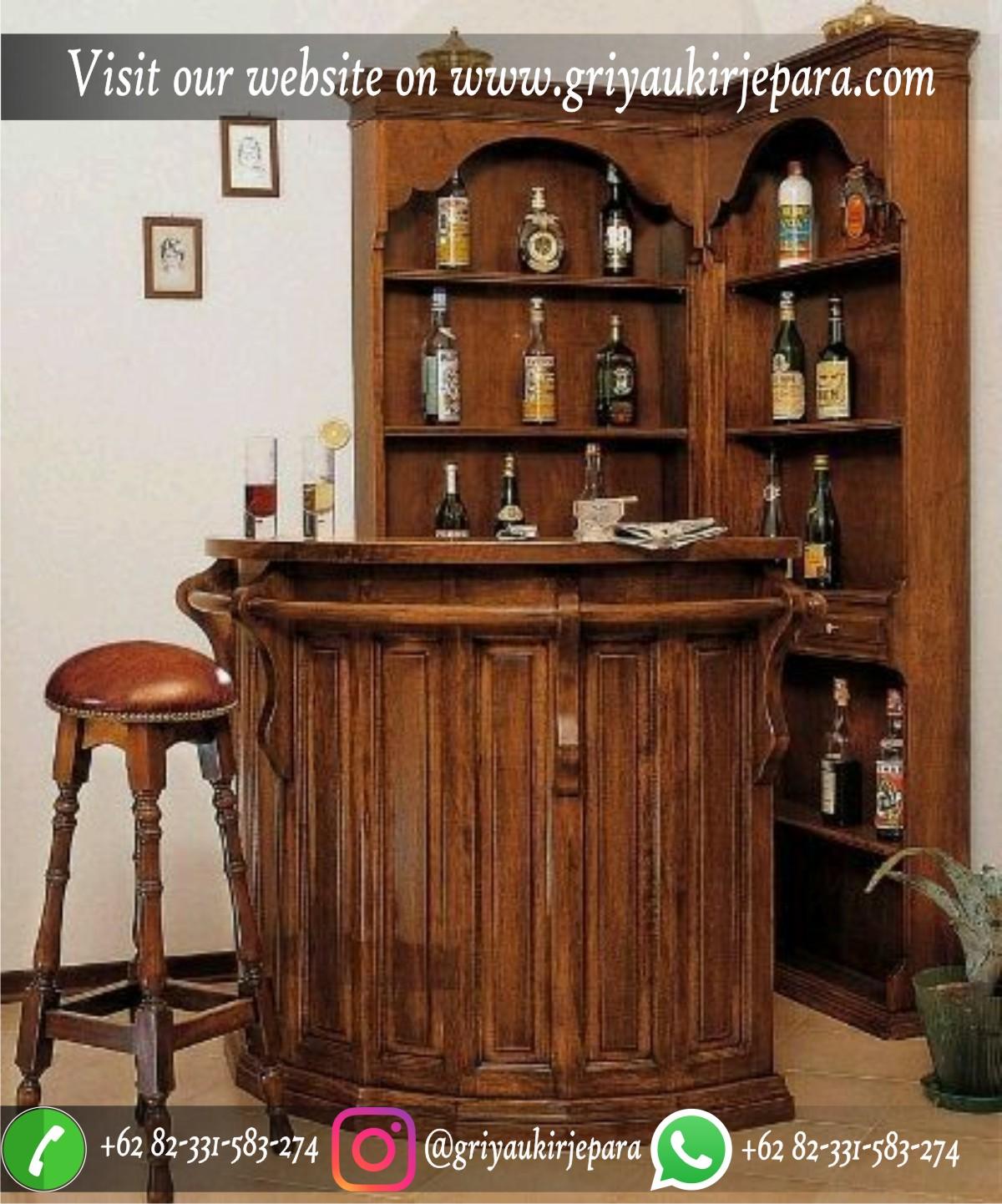 Meja Bar Jati Antik Minibar Antique Kayu Jati