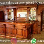 meja bar set lengkap kayu jati