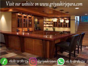 Meja Bar Kayu Jati Desain Mewah dan Klasik
