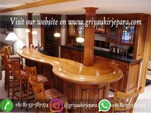 Meja Bar Mewah Kayu Jati