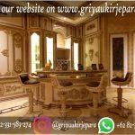 Meja Bar Mewah klasik warna emas