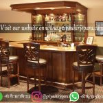 Meja Bar Jati Lengkap dengan kursi bar atau kursi cafe