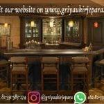 Set Meja Bar Atau meja cafe klasik kayu jati satu