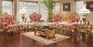 Sofa Ruang Tamu Jati Ukiran Mewah