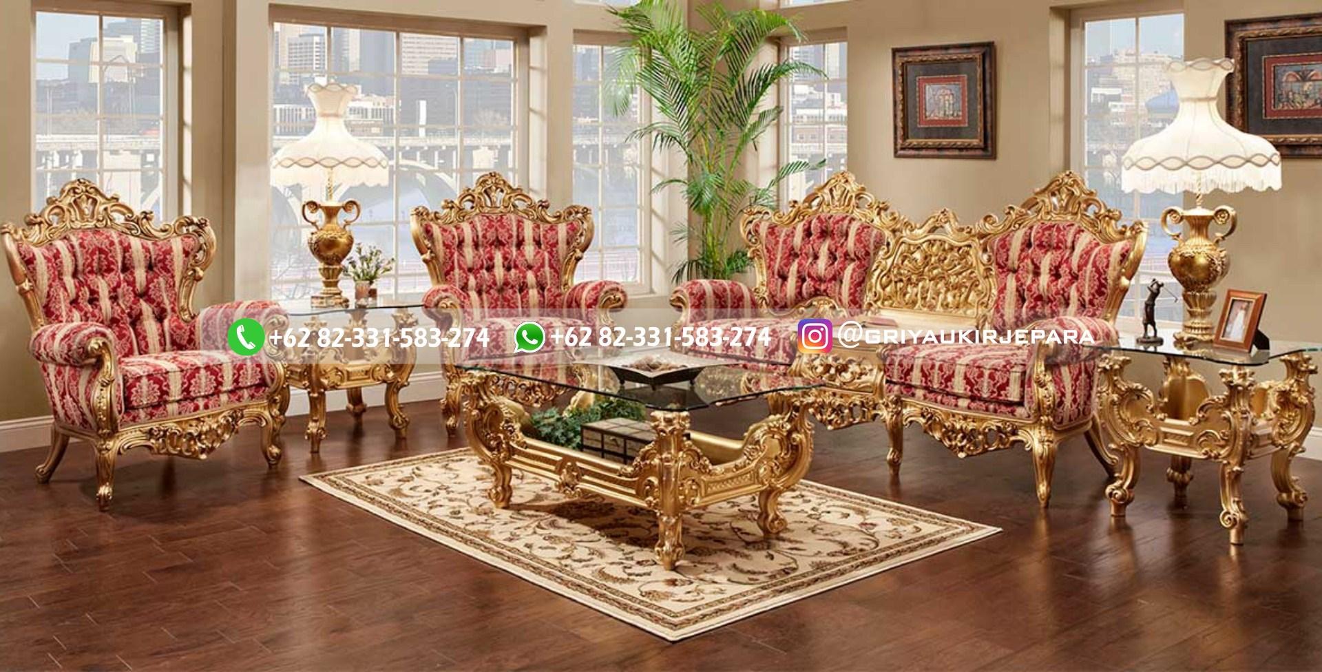 sofa ruang tamu jati mewah griya ukir jepara 102 - 50+ Sofa Ruang Tamu Jati Murah