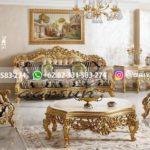 sofa ruang tamu jati warna gold