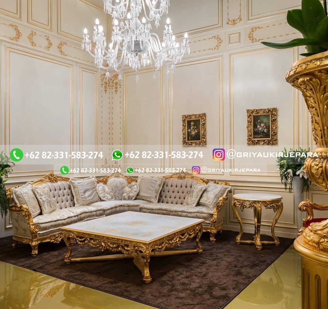 sofa ruang tamu jati mewah griya ukir jepara 13 - 15 Model Sofa Sudut Jati Harga Murah