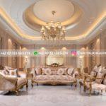 sofa ruang tamu mewah gold