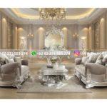 sofa ruang tamu jati mewah warna putih