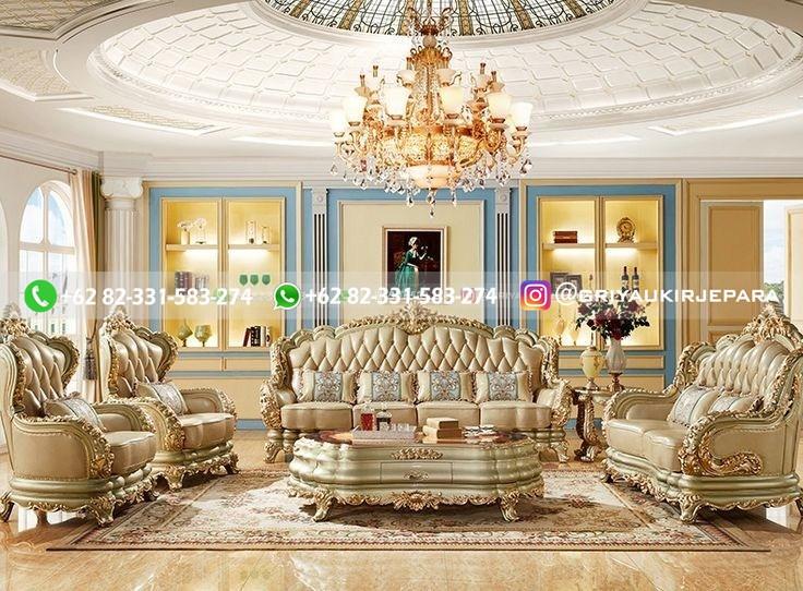sofa ruang tamu jati mewah griya ukir jepara 132 - Sofa Ruang Tamu Jati Klasik Mewah