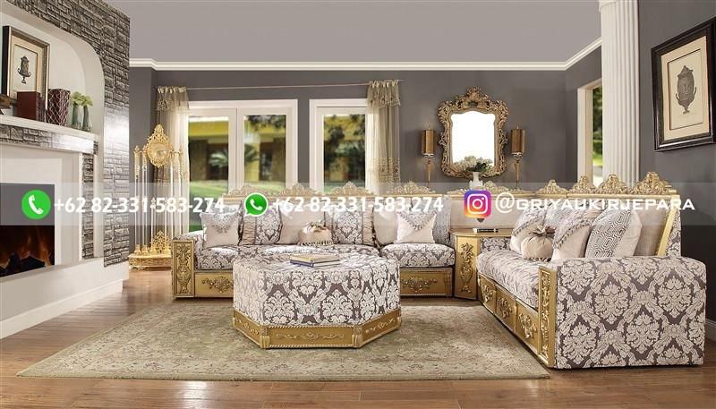 sofa ruang tamu jati mewah griya ukir jepara 39 - 15 Model Sofa Sudut Jati Harga Murah
