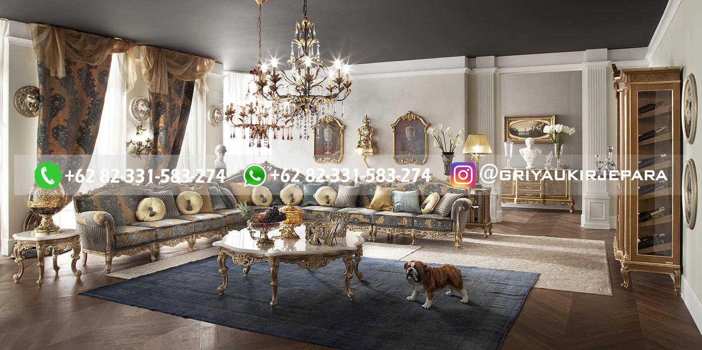 sofa ruang tamu jati mewah griya ukir jepara 4 - 15 Model Sofa Sudut Jati Harga Murah