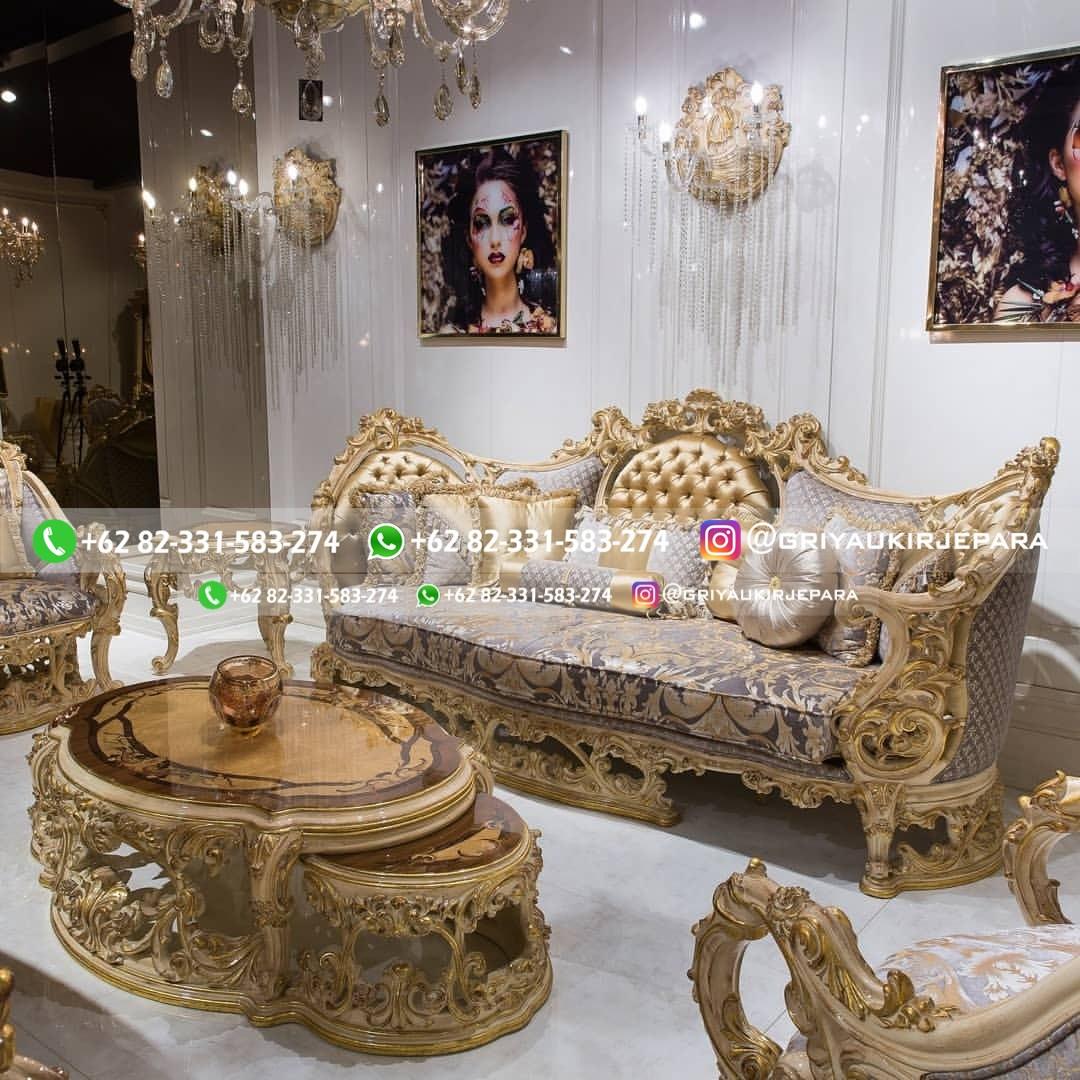 sofa ruang tamu jati mewah griya ukir jepara 5 - 100+ Model Sofa Ruang Tamu Jati Mewah