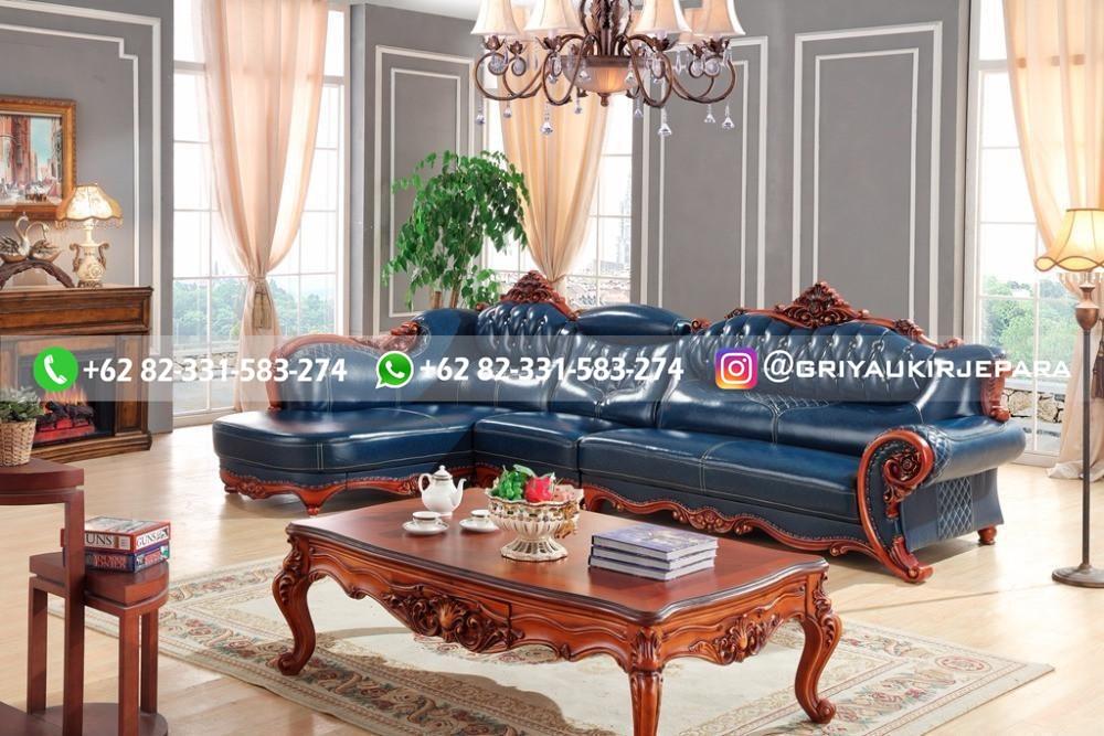 sofa ruang tamu jati mewah griya ukir jepara 71 - 15 Model Sofa Sudut Jati Harga Murah