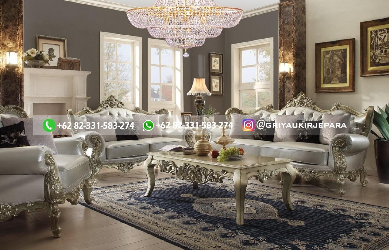 sofa ruang tamu jati mewah griya ukir jepara 85 - 70 Sofa Ruang Tamu Jati Mewah Murah