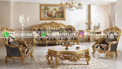 sofa ruang tamu jati mewah - Sofa Ruang Tamu Jati Klasik Mewah