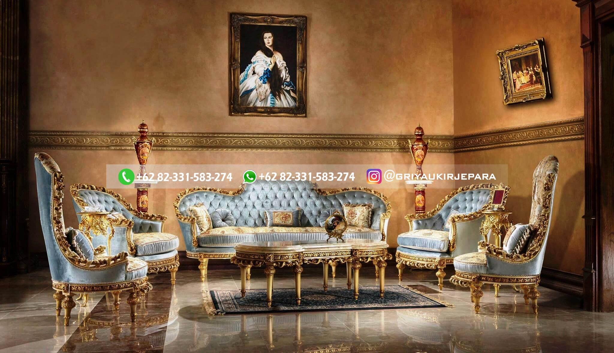 sofa ruang tamu jati - Sofa Ruang Tamu Jati Klasik Mewah