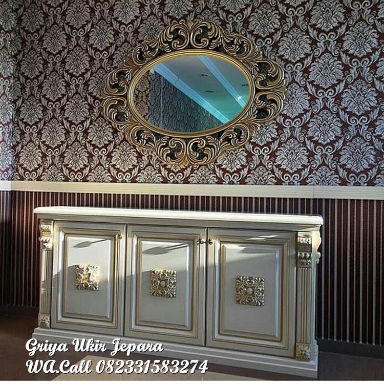 ukir griya ukir jepara1287 - Bufet Modern Warna Ivory BT-012