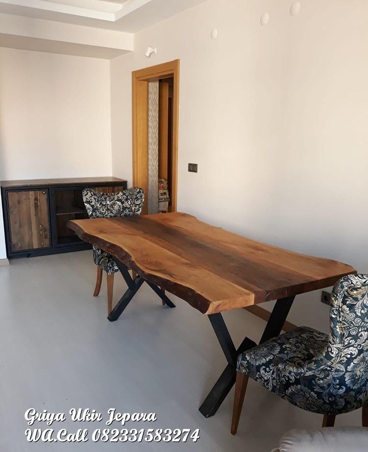 meja makan modern jati
