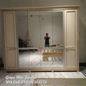 Gambar lemari pakaian 6pintu kaca LP 020