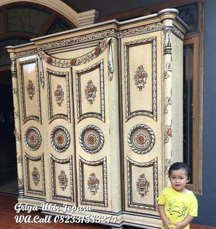 lemari pakaian modern kayu jati