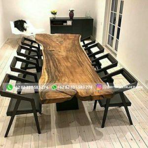 meja makan daun meja jati utuh 300x300 - Meja Makan Kayu Jati Modern Murah