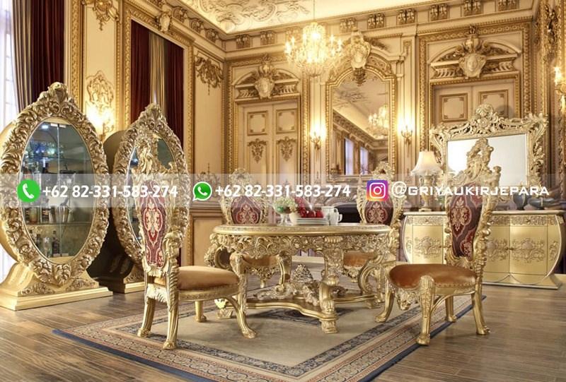 meja makan jati mewah gold - 10+ Meja Makan Jati 8 Kursi Mewah
