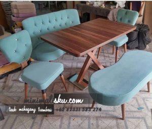 meja makan minimalis 300x254 - Meja Makan Jati Modern Kursi 6 Murah