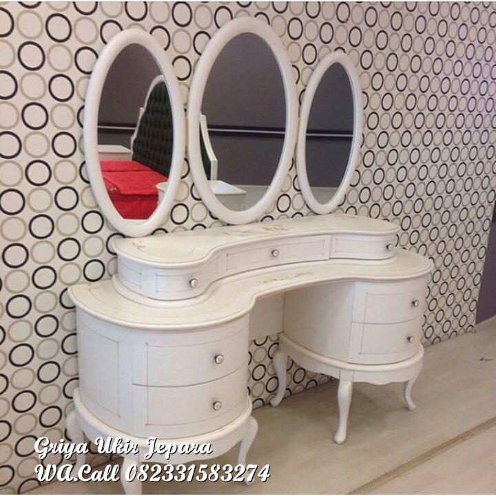 meja rias modern warna duco putih