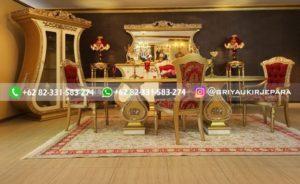 set meja makan jati mewah gold 300x184 - 10+ Meja Makan Jati 8 Kursi Mewah