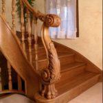 tangga kayu minimalis mewah