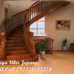 tangga kayu mewah kayu jati