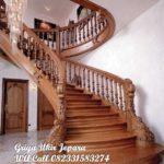 tangga kayu jati mewah