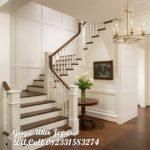 tangga kayu jati mewah cat duco
