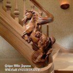 tangga kayu ukir kuda