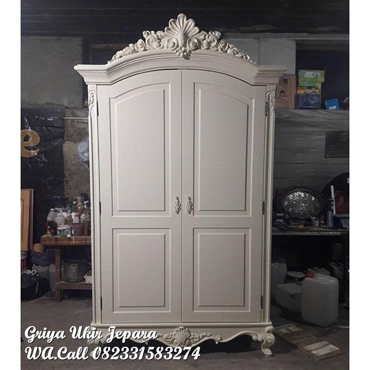 lemari pakaian 2 pintu klasik modern