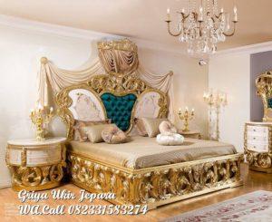 Dipan/Tempat Tidur Mewah Warna Gold BED-039