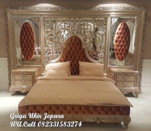 Tempat Tidur Mewah Jati Set Backdrop