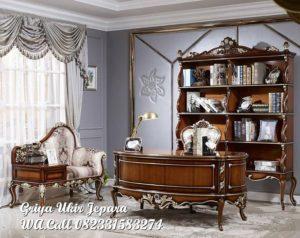 Meja Kantor dan Lemari Buku Mewah LB-001