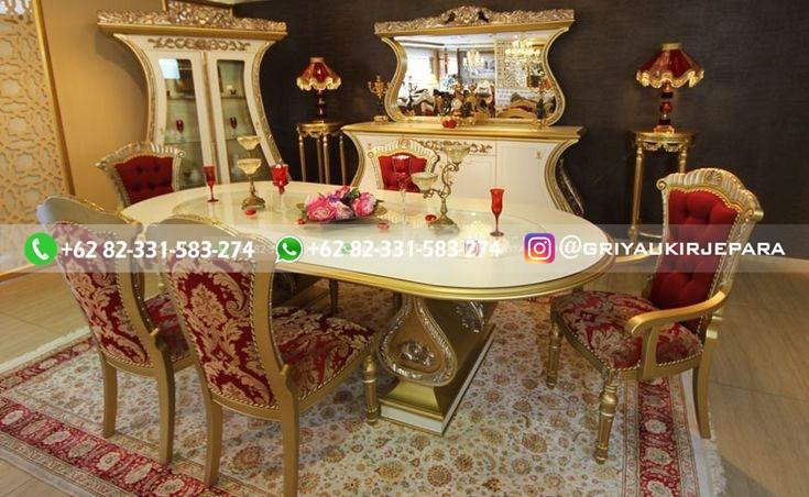 meja makan jati ukiran mewah - 10+Model Meja Makan Jati Mewah Murah