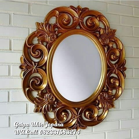 pigura cermin bundar