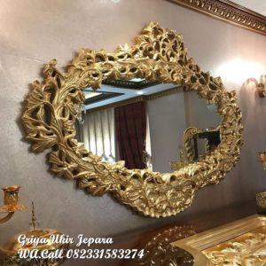 Pigura Cermin Ukiran Relief Mewah PC-032