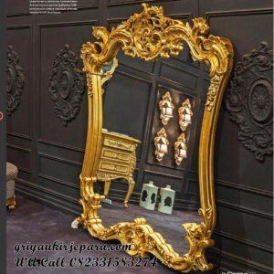 Pigura Cermin Ukiran Mewah Gold PC-033