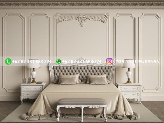 Tempat Tidur Jati Mewah Minimalis Klasik dan Ukiran Jepara