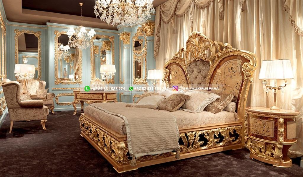 Tempat Tidur Jati Mewah Minimalis Klasik dan Ukiran Jepara 29 - 10+ Model Tempat Tidur Jati Mewah