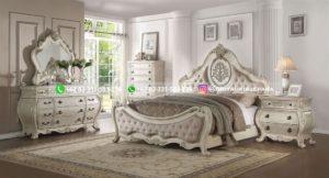 Set Tempat Tidur Jati Mewah Patricia