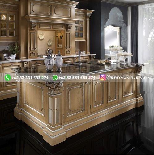 kitchen set jati mewah klasik